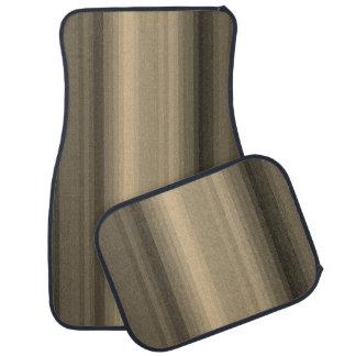 Alfombrilla Para Coche Línea marrón modelo de la raya del café del Tabby