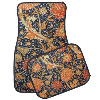 Alfombrilla Para Coche Modelo floral de Nouveau del arte de William