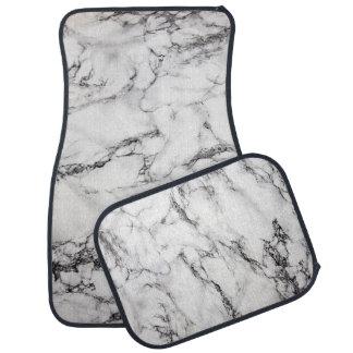 Alfombrilla Para Coche piedra de mármol blanca