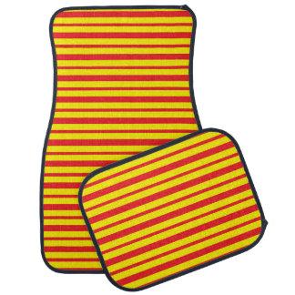 Alfombrilla Para Coche Rayas rojas y amarillas gruesas y finas