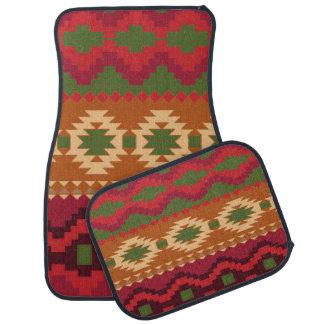 Alfombrilla Para Coche Sistema azteca del diseño de la impresión de 4