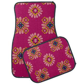 Alfombrilla Para Coche Sistema fucsia decorativo del marroquí de 4