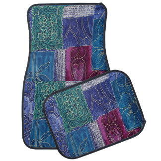 Alfombrilla Para Coche Sistema púrpura azul del remiendo de la aguamarina