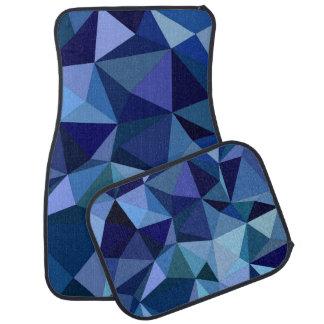 Alfombrilla Para Coche Triángulos azules