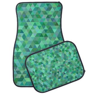 Alfombrilla Para Coche Triángulos verdes en colores pastel