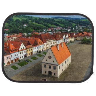 Alfombrilla Para Coche Vieja plaza en Bardejov por día, Eslovaquia