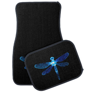 Alfombrillas de auto azules de la libélula