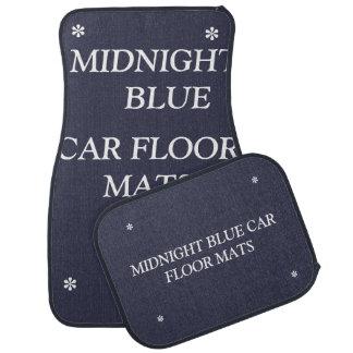 Alfombrillas de auto azules de medianoche del alfombrilla de coche
