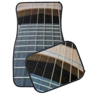 Alfombrillas de auto con imagen de la guitarra