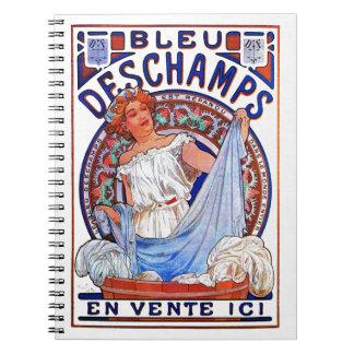 Alfons Mucha Bleu 1897 Deschamps Cuaderno