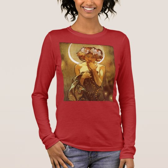Alfons Mucha: Luna Camiseta De Manga Larga