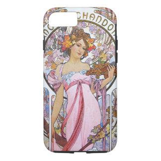 Alfonso Mucha. Anuncio de Champán, 1899. Funda iPhone 7