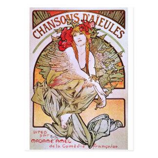 Alfonso Mucha. Chansons D 'Aieules, c.1898 Postal