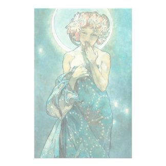Alfonso Mucha Moonlight Clair De Lune Art Nouveau Papelería De Diseño