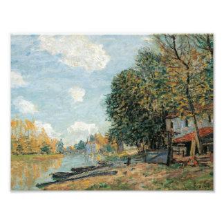Alfred Sisley - bancos de Moret-The del río Loing Arte Fotográfico