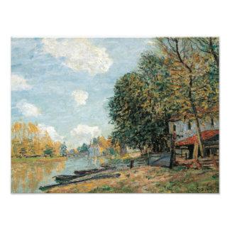 Alfred Sisley - bancos de Moret-The del río Loing Fotografía