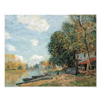 Alfred Sisley - bancos de Moret-The del río Loing Impresion Fotografica