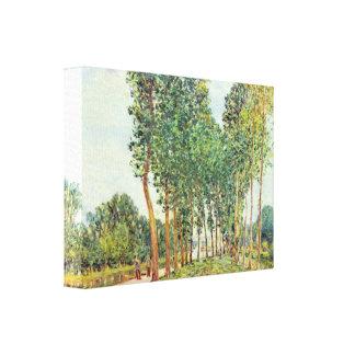 Alfred Sisley - bancos del Loing en Moret Impresión En Lona Estirada