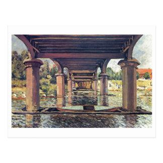 Alfred Sisley Brücke - Hampton Court 1874 Postales