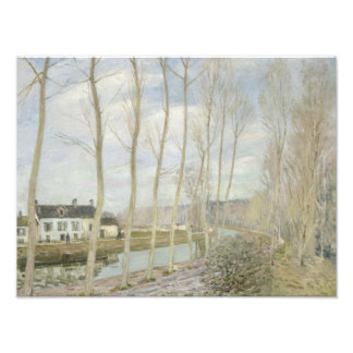 Alfred Sisley - el canal del Loing Cojinete