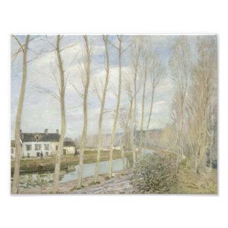Alfred Sisley - el canal del Loing Impresión Fotográfica