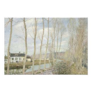 Alfred Sisley - el canal del Loing Impresiones Fotograficas