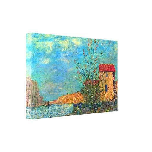 Alfred Sisley - el Loing en Moret Lienzo Envuelto Para Galerias
