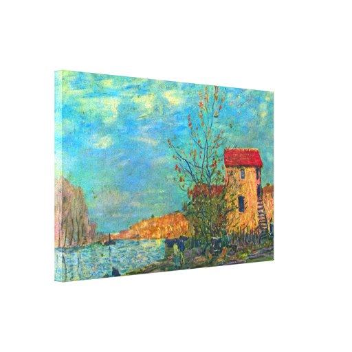 Alfred Sisley - el Loing en Moret Lona Envuelta Para Galerías