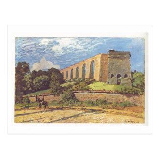 Alfred Sisley - impresión del aceite de Aquädukt v Postales