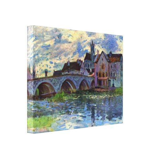 Alfred Sisley - Moret-sur-Loing Impresión En Lienzo Estirada