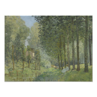 Alfred Sisley - resto a lo largo de la corriente Foto