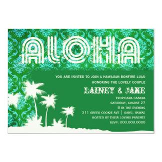 Alga marina de la palma de Luau de la hawaiana de Invitación 12,7 X 17,8 Cm