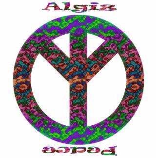 Algiz u ornamento de la paz esculturas fotográficas