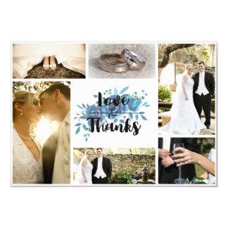 Algo boda azul de la acuarela le agradece foto invitación 8,9 x 12,7 cm