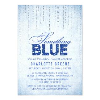 Algo invitación nupcial azul de la ducha invitación 12,7 x 17,8 cm