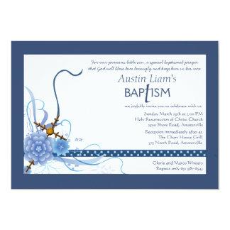 Algo invitación religiosa azul invitación 12,7 x 17,8 cm