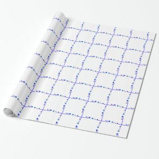 Papel De Regalo Algo papel azul del papel de regalo