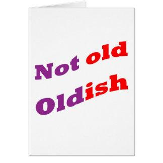 Algo viejo no viejo tarjeta de felicitación