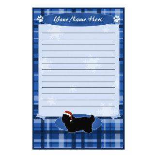 Algodón azul de Tulear Stationery del navidad Papelería