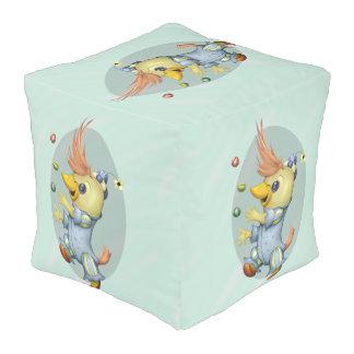 ALGODÓN GRANDE del taburete del cubo del BEBÉ RIUS Pouf