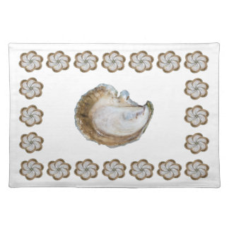 Algodón Placemat - diseño C de la ostra Salvamanteles