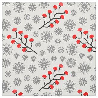 """Algodón rojo y gris moderno (56"""" anchura) tela"""
