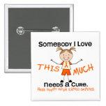 Alguien amor de I - ms de la esclerosis múltiple Chapa Cuadrada