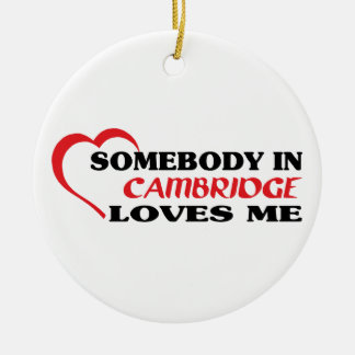 Alguien en Cambridge me ama Adorno De Cerámica