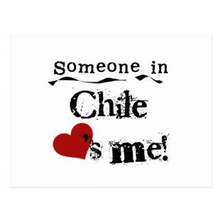 Alguien en Chile me ama Postal