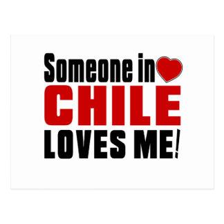 ¡ALGUIEN EN CHILE ME AMA! POSTAL