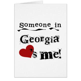 Alguien en Georgia me ama Tarjeta De Felicitación