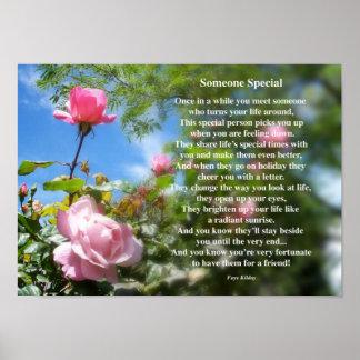 Alguien poster especial del poema de la amistad