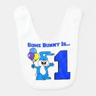 Algún conejito es uno (el azul) babero