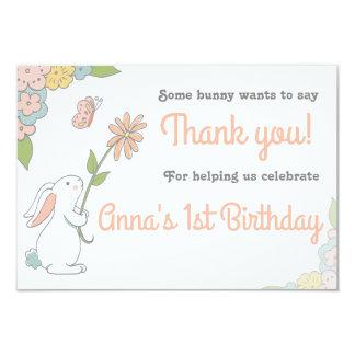 Algún conejito le agradece las tarjetas invitación 8,9 x 12,7 cm